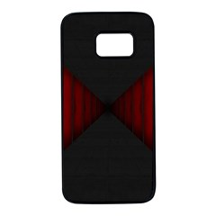 Black Red Door Samsung Galaxy S7 Black Seamless Case by Mariart