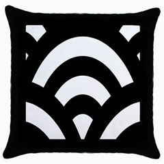 Circle White Black Throw Pillow Case (black) by Mariart