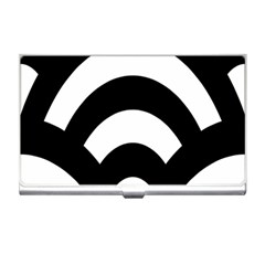 Circle White Black Business Card Holders