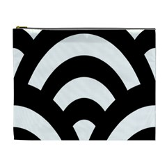 Circle White Black Cosmetic Bag (xl) by Mariart