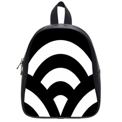 Circle White Black School Bag (small) by Mariart