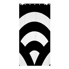 Circle White Black Shower Curtain 36  X 72  (stall)  by Mariart
