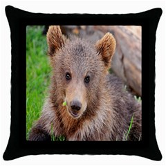 Baby Bear Animals Throw Pillow Case (black) by Mariart