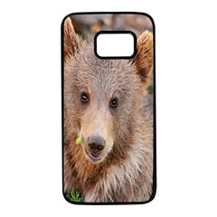 Baby Bear Animals Samsung Galaxy S7 Black Seamless Case by Mariart