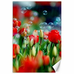 Colorful Flowers Canvas 12  X 18