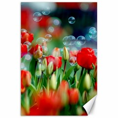 Colorful Flowers Canvas 24  X 36  by Mariart