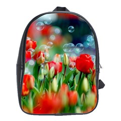 Colorful Flowers School Bag (large)