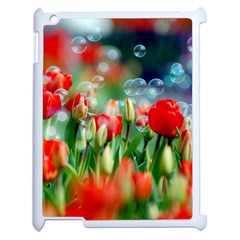 Colorful Flowers Apple Ipad 2 Case (white) by Mariart