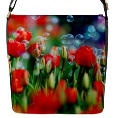Colorful Flowers Flap Messenger Bag (s) by Mariart