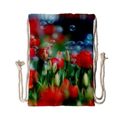 Colorful Flowers Drawstring Bag (small) by Mariart