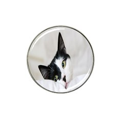 Cat Face Cute Black White Animals Hat Clip Ball Marker (10 Pack) by Mariart
