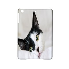 Cat Face Cute Black White Animals Ipad Mini 2 Hardshell Cases by Mariart