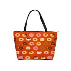 Coffee Donut Cakes Shoulder Handbags by Mariart