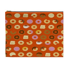 Coffee Donut Cakes Cosmetic Bag (xl)