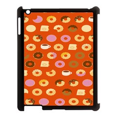 Coffee Donut Cakes Apple Ipad 3/4 Case (black) by Mariart