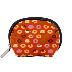 Coffee Donut Cakes Accessory Pouches (small)  by Mariart