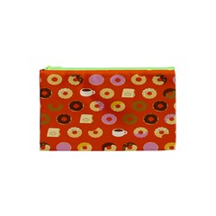 Coffee Donut Cakes Cosmetic Bag (xs) by Mariart