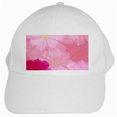 Cosmos Flower Floral Sunflower Star Pink Frame White Cap
