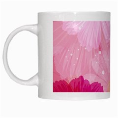 Cosmos Flower Floral Sunflower Star Pink Frame White Mugs by Mariart