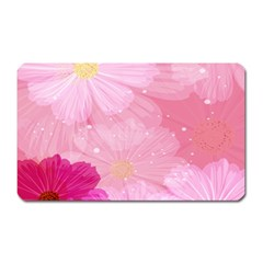 Cosmos Flower Floral Sunflower Star Pink Frame Magnet (rectangular) by Mariart
