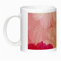 Cosmos Flower Floral Sunflower Star Pink Frame Night Luminous Mugs by Mariart