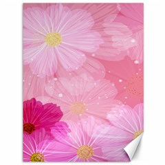 Cosmos Flower Floral Sunflower Star Pink Frame Canvas 36  X 48   by Mariart