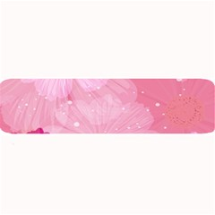 Cosmos Flower Floral Sunflower Star Pink Frame Large Bar Mats by Mariart