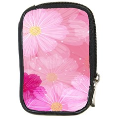 Cosmos Flower Floral Sunflower Star Pink Frame Compact Camera Cases by Mariart