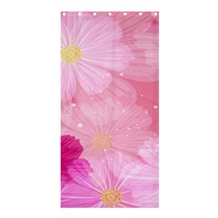 Cosmos Flower Floral Sunflower Star Pink Frame Shower Curtain 36  X 72  (stall)