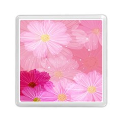 Cosmos Flower Floral Sunflower Star Pink Frame Memory Card Reader (square)