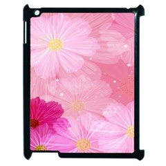 Cosmos Flower Floral Sunflower Star Pink Frame Apple Ipad 2 Case (black) by Mariart