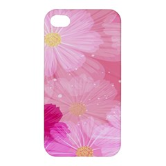 Cosmos Flower Floral Sunflower Star Pink Frame Apple Iphone 4/4s Hardshell Case