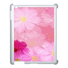 Cosmos Flower Floral Sunflower Star Pink Frame Apple Ipad 3/4 Case (white) by Mariart
