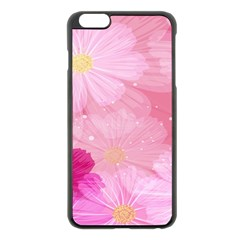 Cosmos Flower Floral Sunflower Star Pink Frame Apple Iphone 6 Plus/6s Plus Black Enamel Case by Mariart