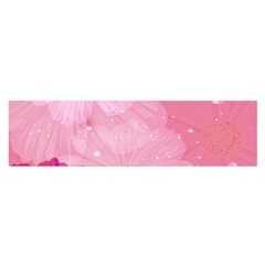 Cosmos Flower Floral Sunflower Star Pink Frame Satin Scarf (oblong)