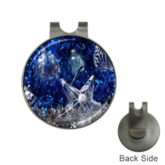 Christmas Silver Blue Star Ball Happy Kids Hat Clips With Golf Markers by Mariart