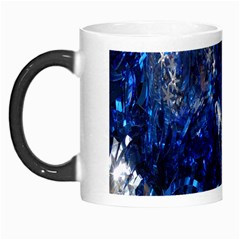 Christmas Silver Blue Star Ball Happy Kids Morph Mugs by Mariart