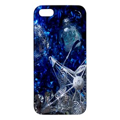 Christmas Silver Blue Star Ball Happy Kids Apple Iphone 5 Premium Hardshell Case by Mariart