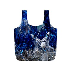 Christmas Silver Blue Star Ball Happy Kids Full Print Recycle Bags (s)