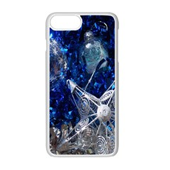 Christmas Silver Blue Star Ball Happy Kids Apple Iphone 7 Plus White Seamless Case