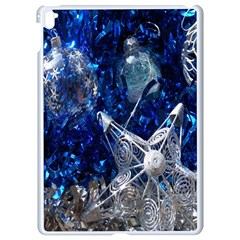 Christmas Silver Blue Star Ball Happy Kids Apple Ipad Pro 9 7   White Seamless Case by Mariart