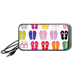 Flip Flop Collage Portable Speaker (black) by StuffOrSomething