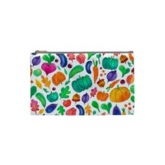 Pattern Autumn White Cosmetic Bag (small)  by Mishacat