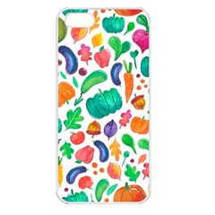 Pattern Autumn White Apple Iphone 5 Seamless Case (white) by Mishacat