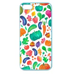 Pattern Autumn White Apple Seamless Iphone 5 Case (color) by Mishacat