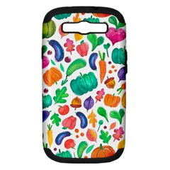 Pattern Autumn White Samsung Galaxy S Iii Hardshell Case (pc+silicone) by Mishacat