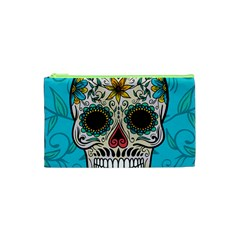 Sugar Skull New 2015 Cosmetic Bag (xs) by crcustomgifts