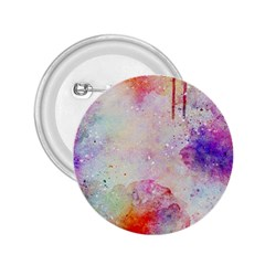 Watercolor Galaxy Purple Pattern 2 25  Buttons