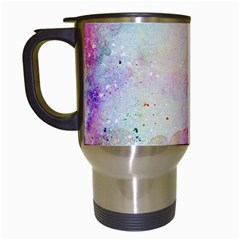 Watercolor Galaxy Purple Pattern Travel Mugs (white) by paulaoliveiradesign