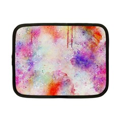 Watercolor Galaxy Purple Pattern Netbook Case (small)  by paulaoliveiradesign